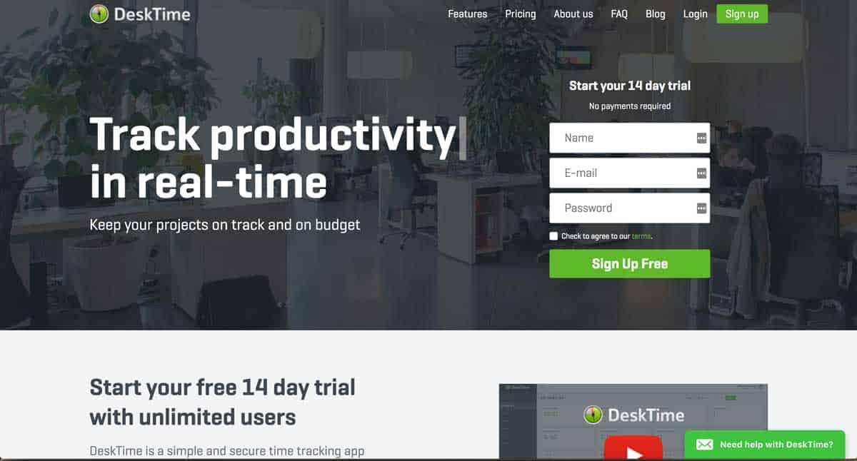 GoWP Productivity Tool 3 DeskTime