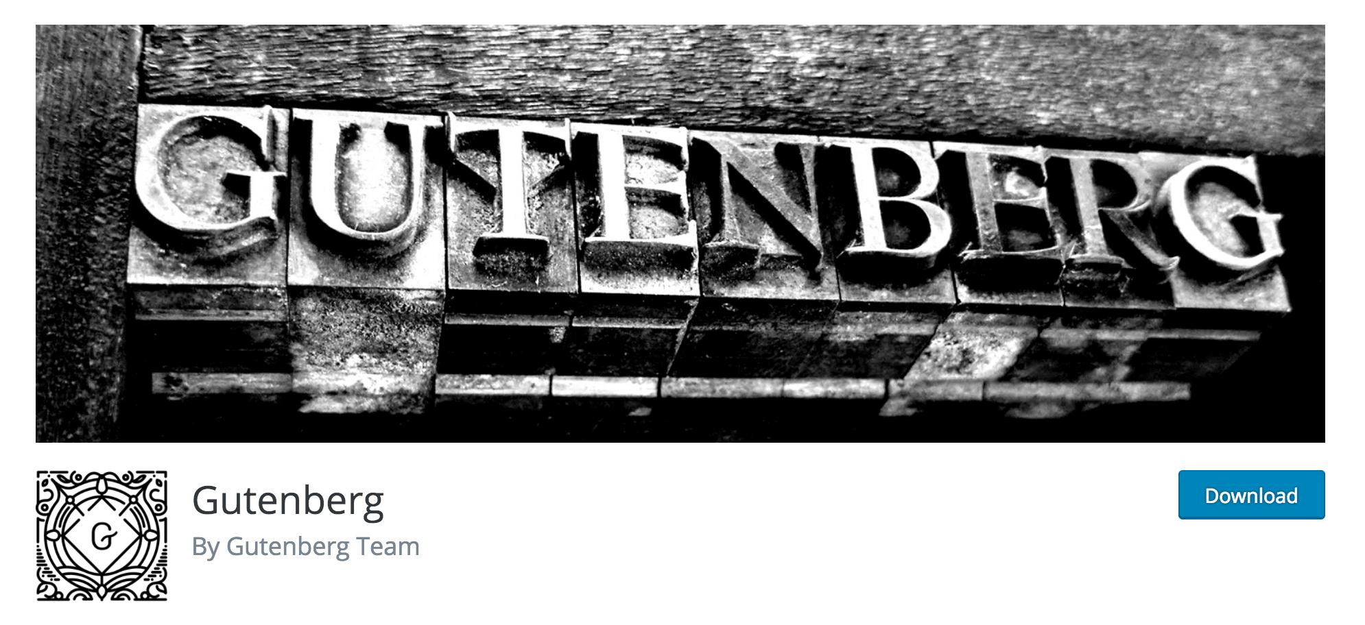 The Gutenberg plugin.