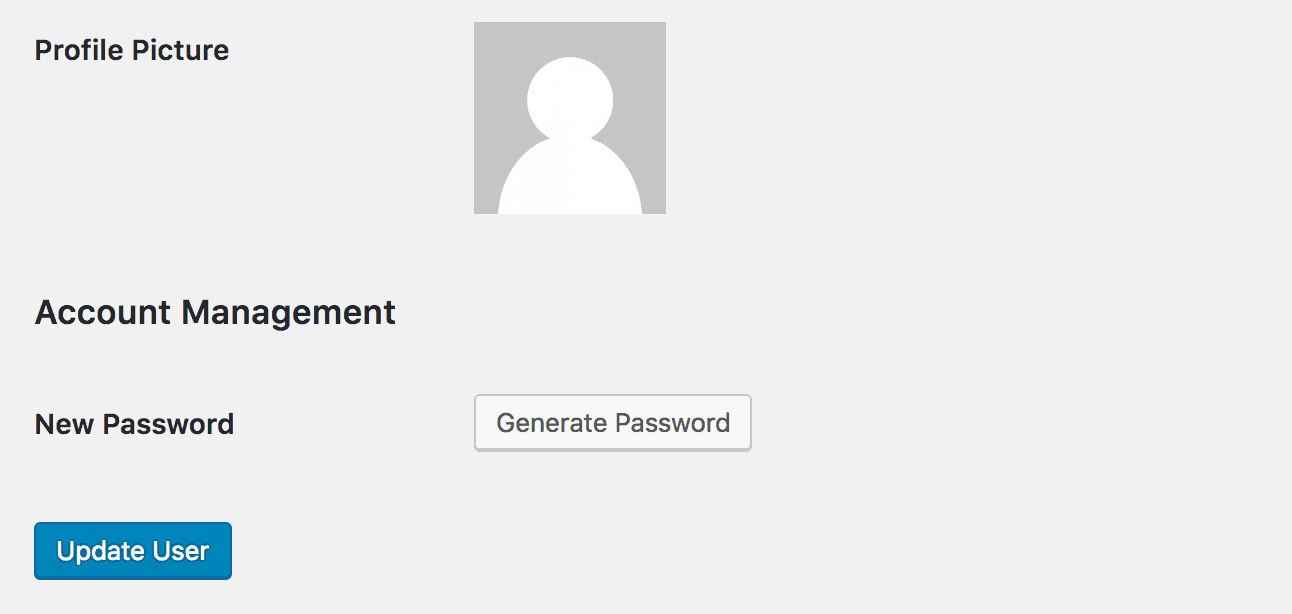 Generate a new password using WordPress.