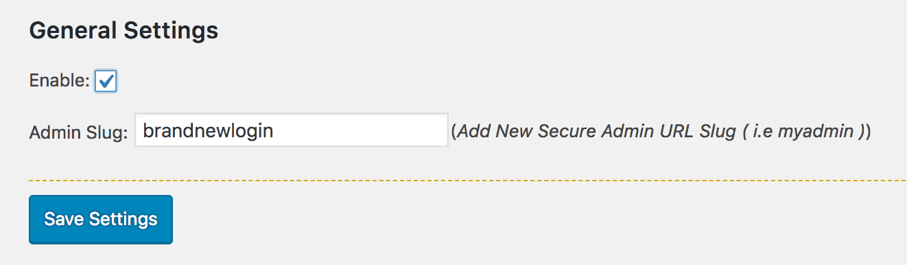Changing the URL for the WordPress login page.