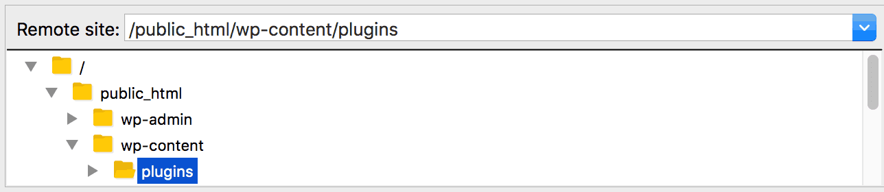 The plugins directory.