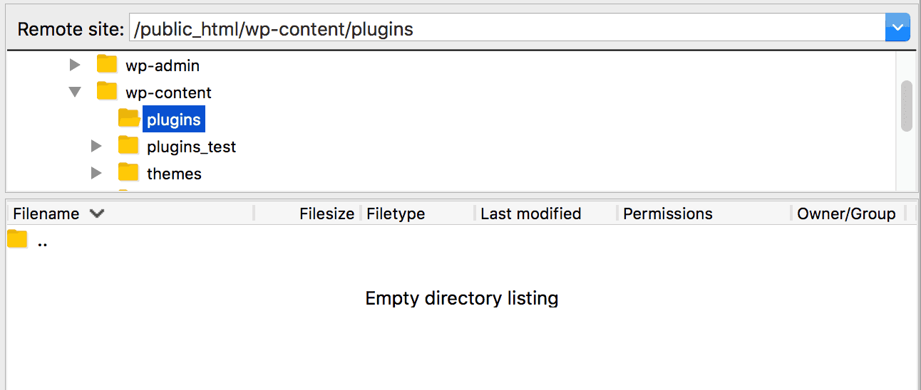 Creating a new plugins directory.