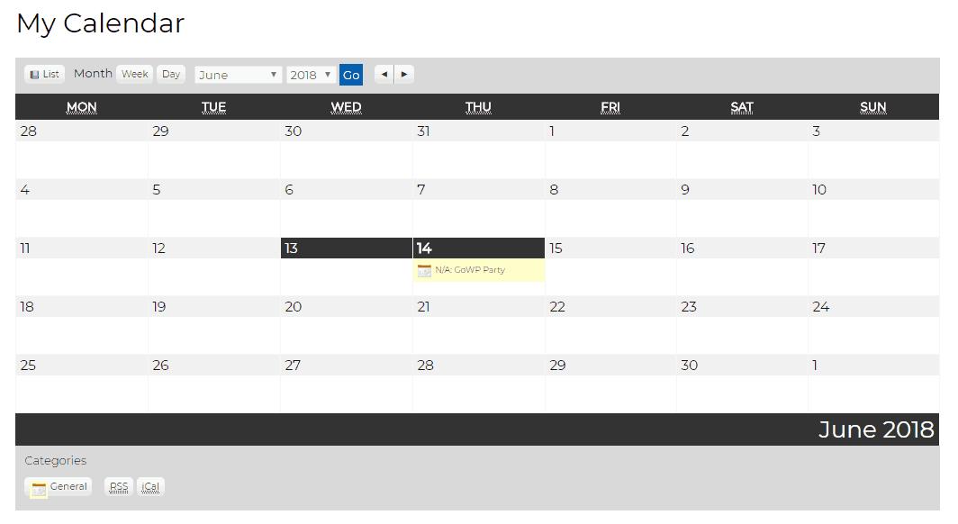 my calendar example