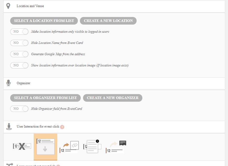 eventon logged-in status