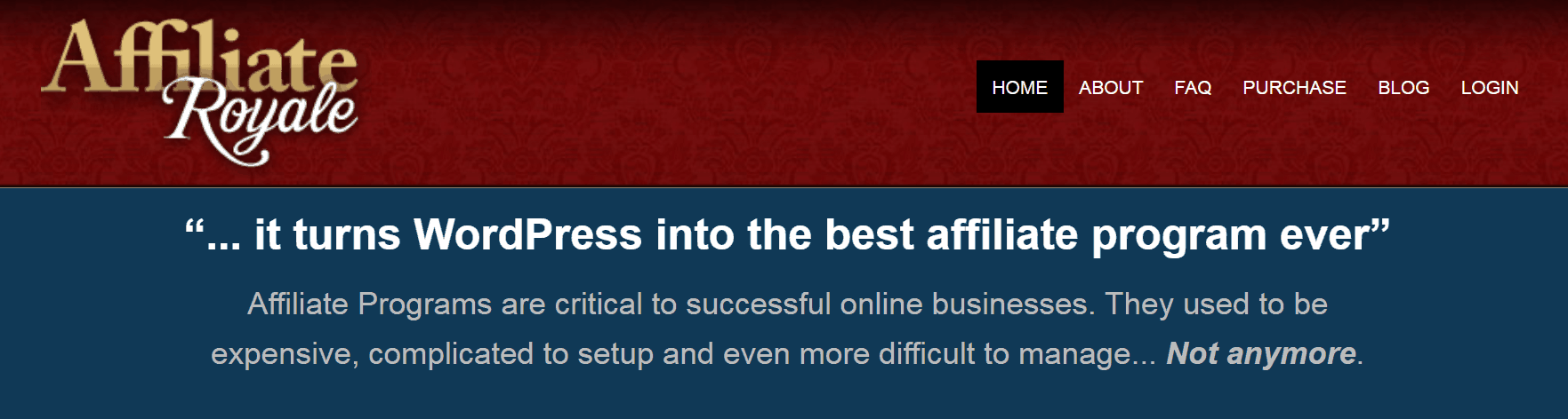 The Affiliate Royale WordPress plugin.