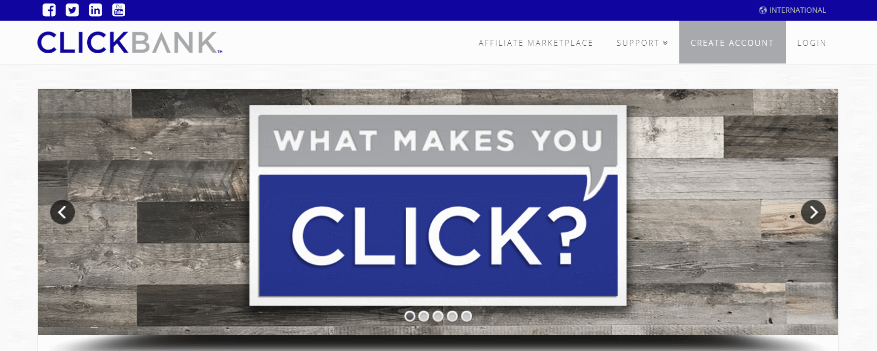 The ClickBank website.