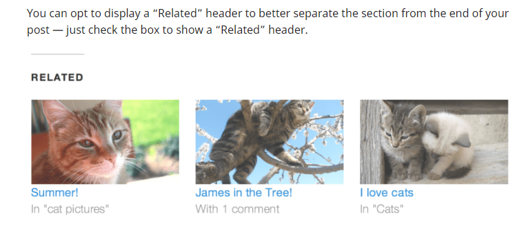 Jetpack related posts
