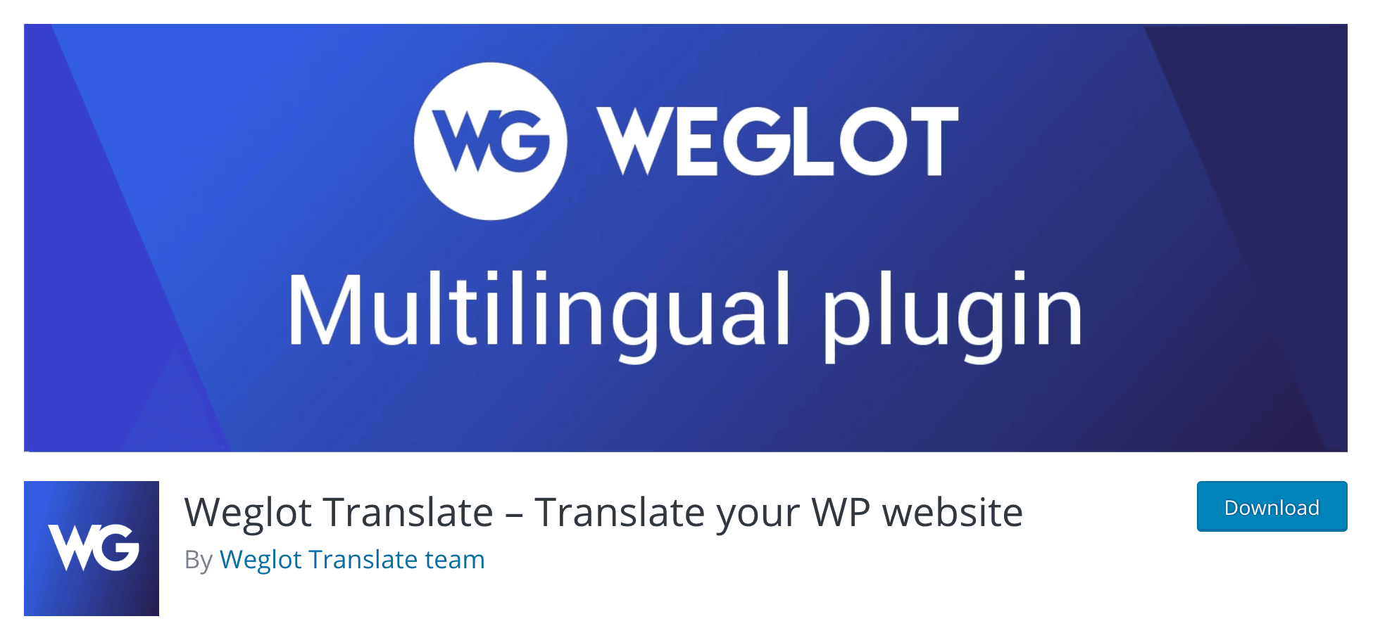 The Weglot plugin.