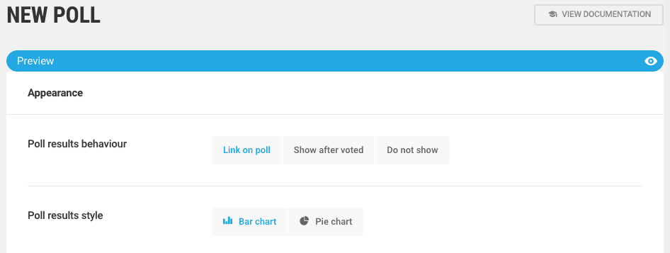 Forminator Poll Settings