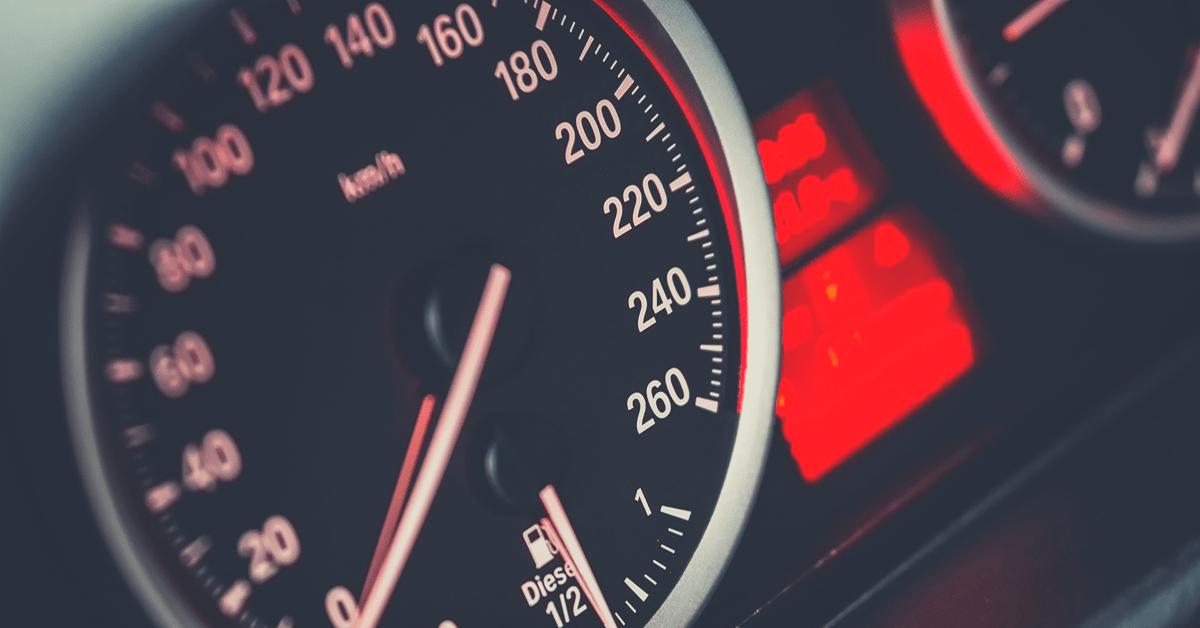 A speedometer.