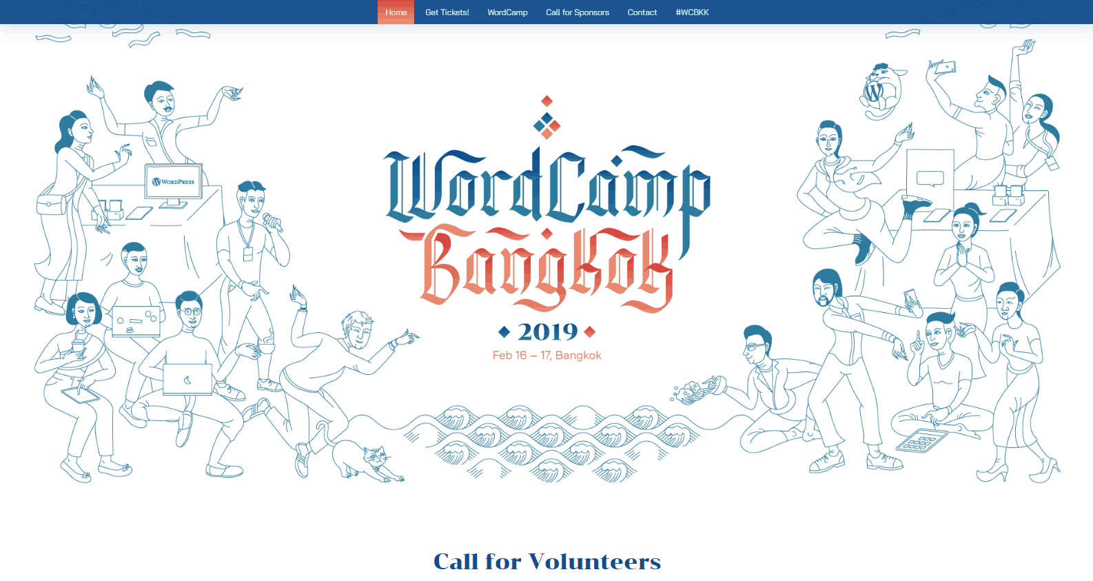 WordPress events: The WordCamp Bangkok website.