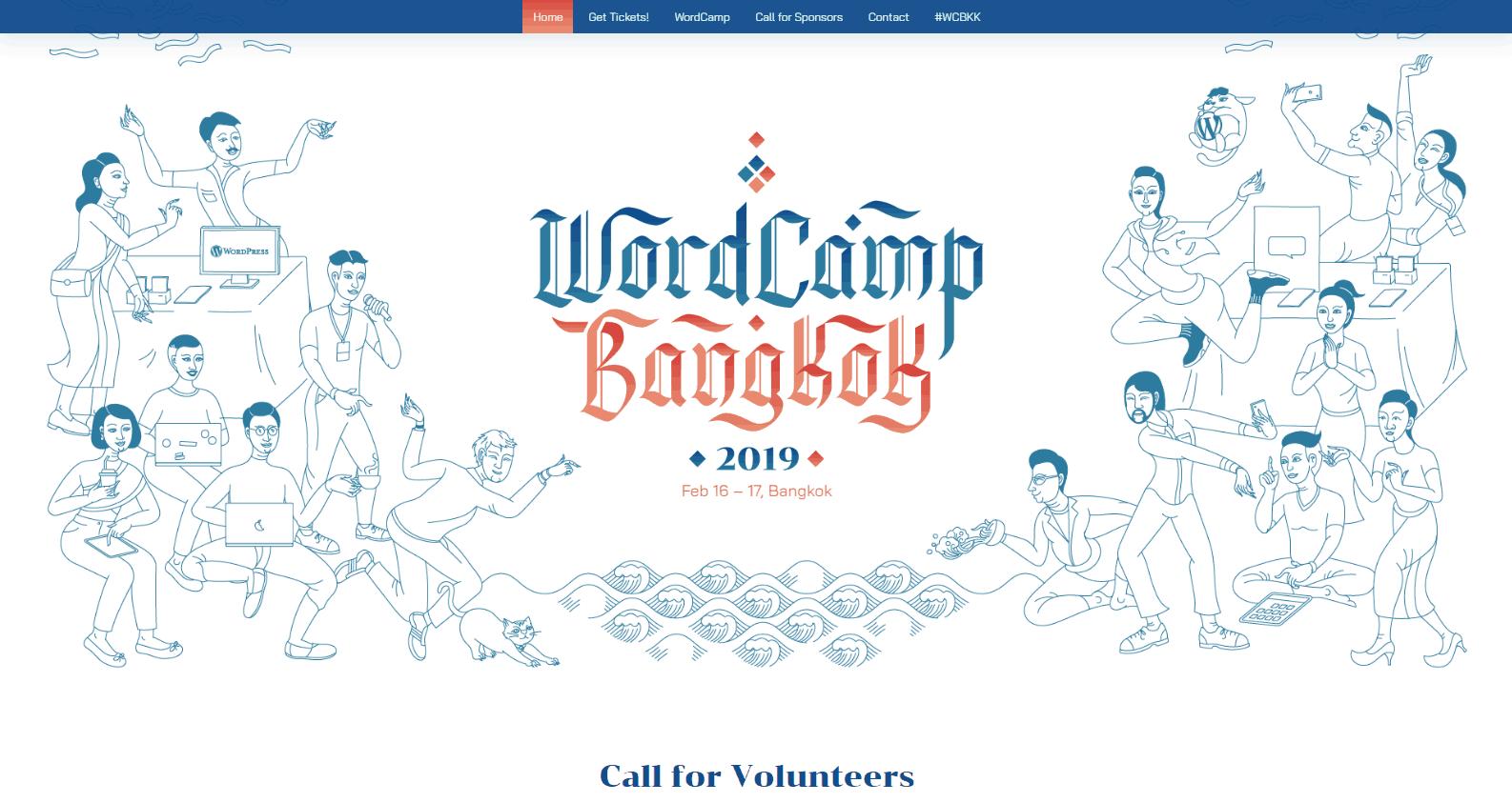 WordPress events: The WordCamp Bangkok website.