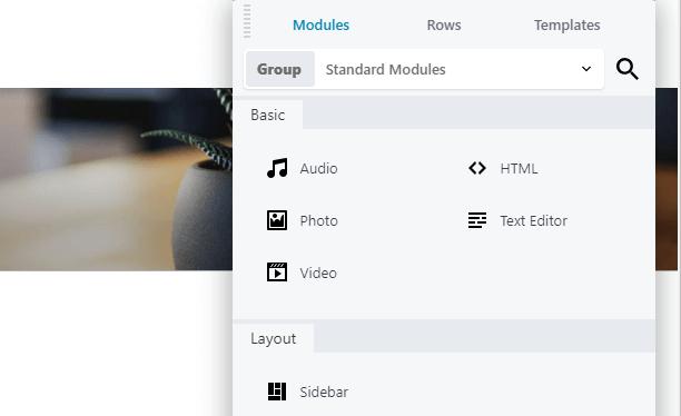 The default Beaver Builder modules.