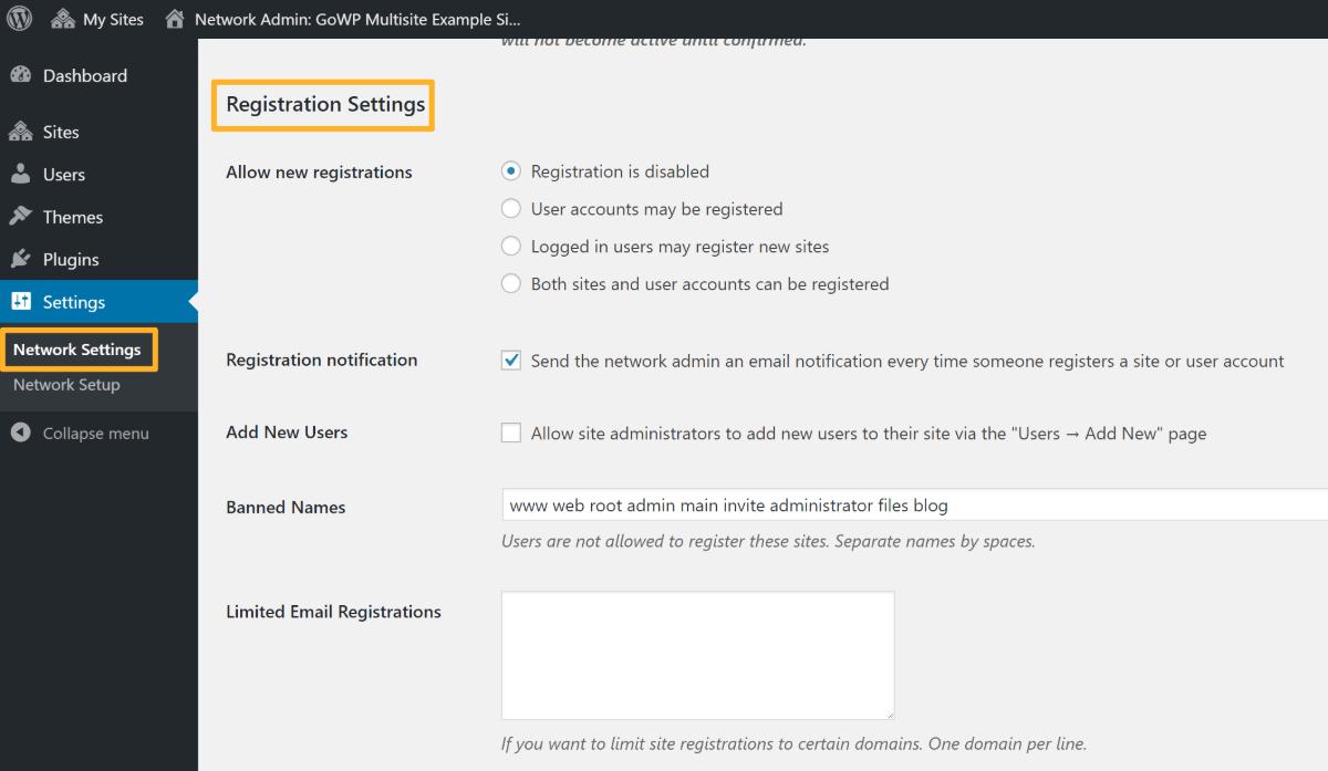 WordPress Multisite Network Admin