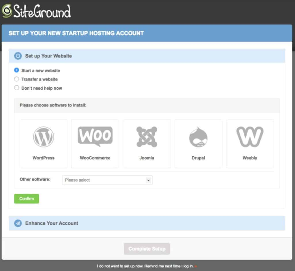 Install WordPress at SiteGround