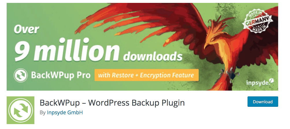 BackWPup Free – WordPress Backup Plugin