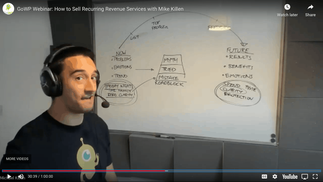 Mike Killen Webinar Selling your services GoWP