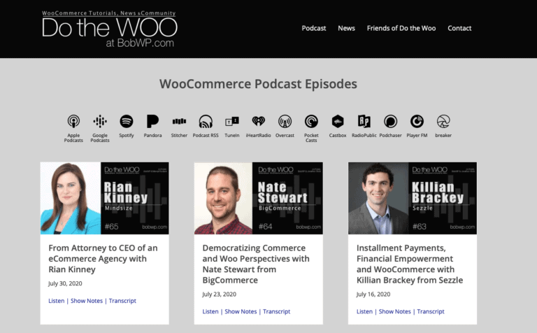 Do the Woo podcast with BobWP