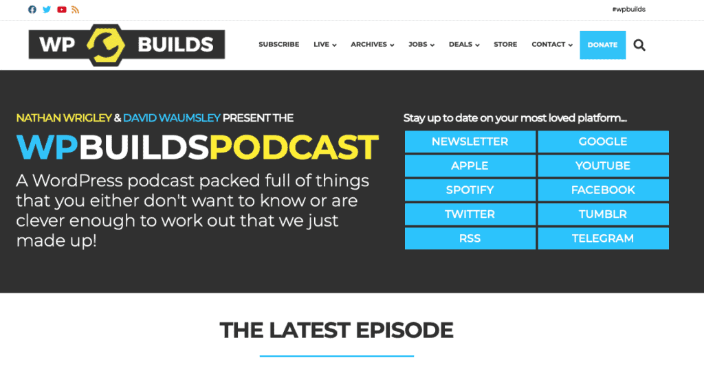 WP Builds WordPress podcast