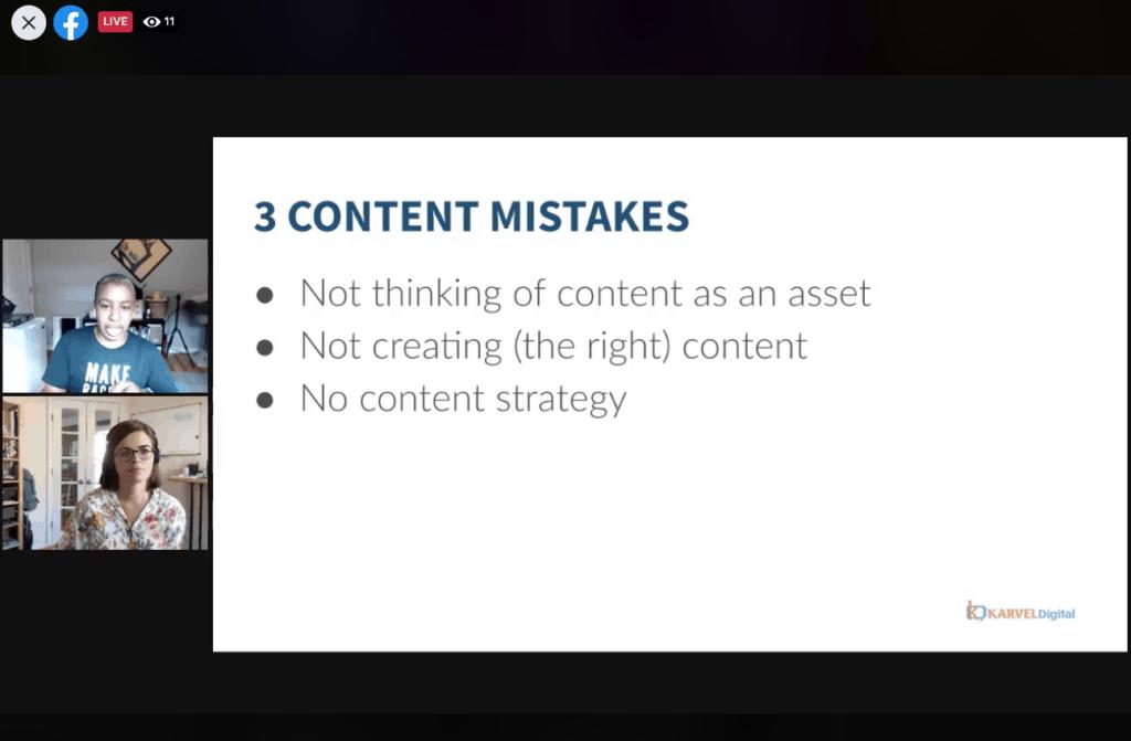 Kronda workshop content mistakes