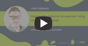 accessiBe webinar play video