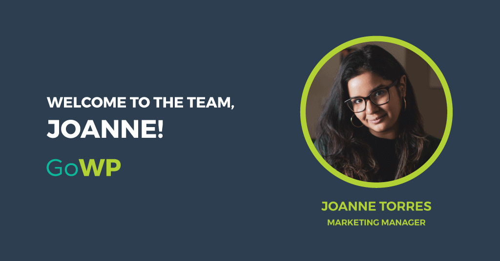 Image with Joanne's headshot and a welcome message